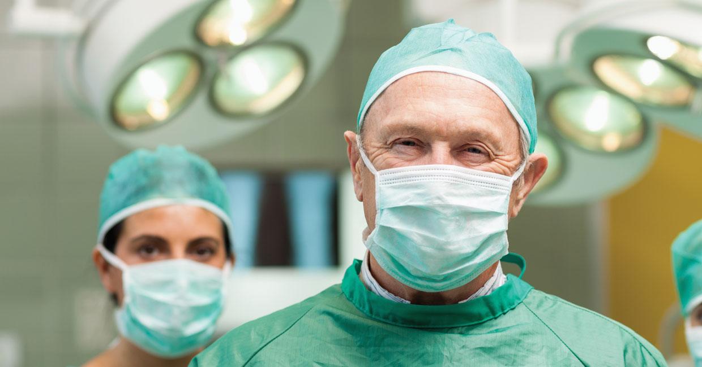 happy doctor between procedures smiling